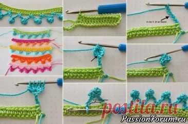 Кайма. Интересные идеи вязания | Вязание крючком для начинающих