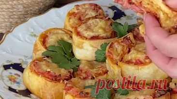 Мини-пиццы ( рецепт )