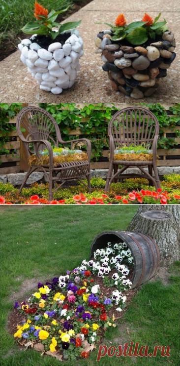 20 ideas para la decoración del jardín, que fácilmente y rápidamente hacer por su propia mano... ¡Admirablemente y neizbito!