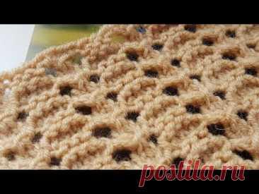 Классный узор из ячеек 💓 knitting pattern. - YouTube