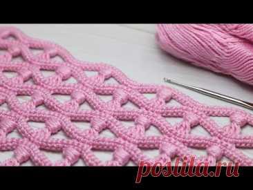 Простой и красивый АЖУРНЫЙ УЗОР крючком МАСТЕР-КЛАСС по вязанию Easy to Crochet for Beginners