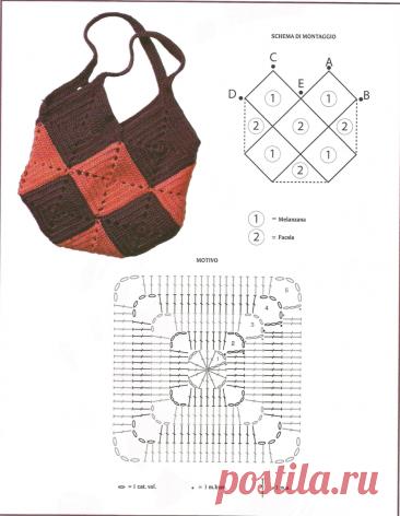 Сумки из мотивов крючком (17 моделей, подборка для вдохновения)   38 рукоделок   Яндекс Дзен