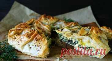 Спанакопита (греческий пирог со шпинатом), пошаговый рецепт с фото