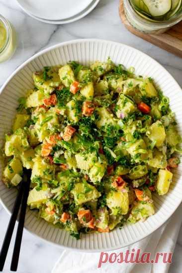 Картофельный салат как приготовить   OnlyVEG