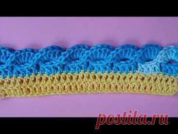 La orla por el gancho Crochet border la Labor de punto de la orla 355 lección