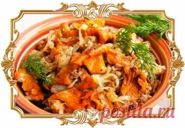 #Гречневая #каша #с #лисичками #и #луком (#рецепт #постный и #вегетарианский, и #диетический, и #без #глютена)  Гречка с грибами - одно из самых любимых сочетаний, которое уже можно назвать классическим. Красочные лисички, хрустящие и сладковатые на вкус гармонично сочетаются с нежной и ароматной гречкой. Сытная гречневая каша может быть приготовлена в любое время года, стоит только запастись грибами. Показать полностью...