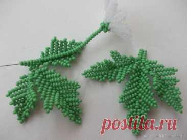 Плетение в технике ндебеле листиков с одной центральной жилкой (окончание), фото № 38