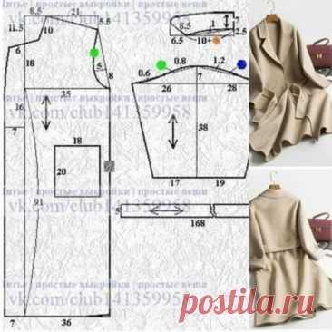 Простые выкройки пальто (много) / Простые выкройки / ВТОРАЯ УЛИЦА - Выкройки, мода и современное рукоделие и DIY
