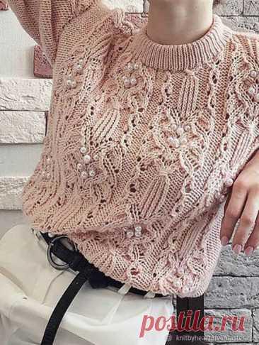 Стильная кофточка спицами - Красивое вязание