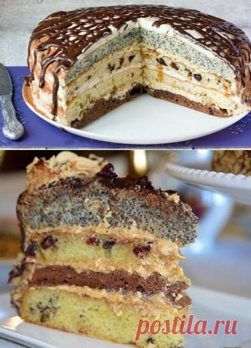 Торт с маком «Королева» - десертик действительно по-царски красивый и вкусный! - be1issimo.ru