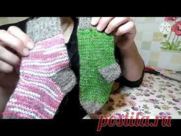 Вязание детских носочков методом Хеликс.