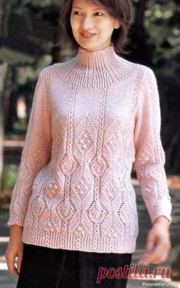 Женственные свитера на осень   Вязание для женщин спицами. Схемы вязания спицами
