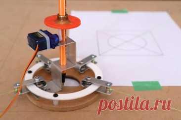 Горизонтальный плоттер для рисования В отличии от вертикального плоттера для рисования, где достаточно две оси, у горизонтального может быть от трех и более. У плоттера, рассматриваемого в этой статье, их четыре.Данный плоттер обладает рядом преимуществ:-Простота конструкции-Встроенный интерпретатор, который распознает вывод g-кода из