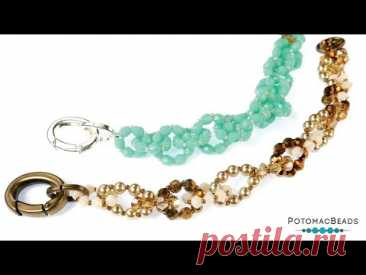 Bead Link Bracelet - DIY Jewelry Making Tutorial by PotomacBeads