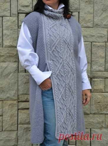 Стильные и эффектные! Подборка вязаных жилетов и безрукавок для пышных женщин | Идеи рукоделия | Яндекс Дзен