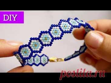 DIY Супер браслет из бисера Мастер класс Beaded bracelet  tutorial Давай порукоделим