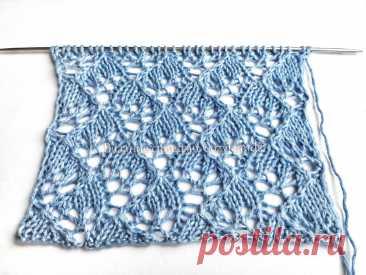 Ажурная паутинка спицами для вязания палантинов, косынок, шалей   Вязание спицами CozyHands   Яндекс Дзен