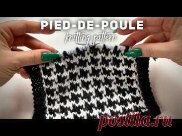 Узор спицами «Гусиные лапки» МОДА на ЖАККАРД! 🦆🦆🦆 Knitting pattern for cardigan