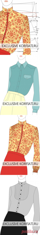 Los patrones de los cuellos-mostradores de Anastasia Korfiati