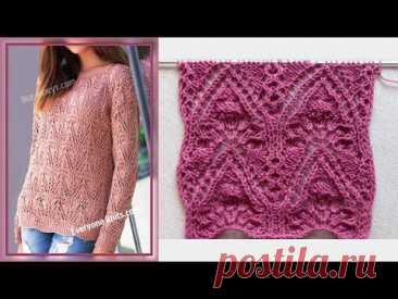 "Ажурный узор ""Хвост павлина""/ Lace pattern-peacock Tail"