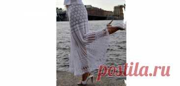 Белая юбка «Греческие мотивы»