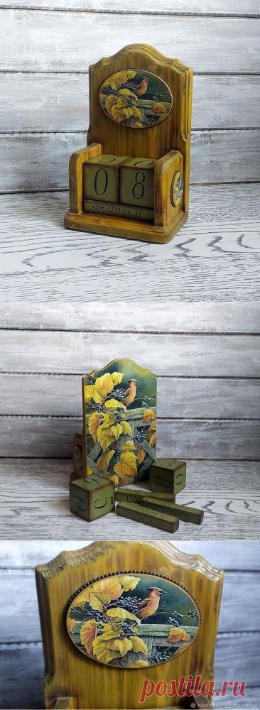 Вечный календарь Краски осени – купить на Ярмарке Мастеров – NKLN6RU | Календари, Москва
