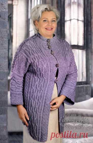 Вязаная одежда для женщин 60 лет - жакеты жилеты спицами для женщин