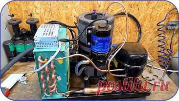 Как сделать чиллер (холодильный агрегат) для ЧПУ станков и не только Здравствуйте, уважаемые читатели и самоделкины!Те из Вас, кто конструировал сколько-нибудь серьезные ЧПУ станки, хорошо знают, что им требуется качественное охлаждение. В частности, это касается твердотельных и газовых лазерных модулей, шпинделей ЧПУ станков, и других сильно нагревающихся мощных