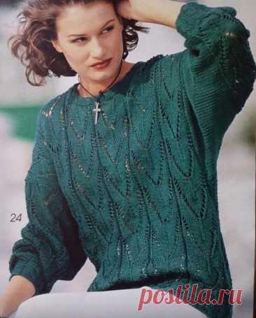 И снова перелистала старые журналы по вязанию..., ловите подборку джемперов + мастер-класс нового узора спицами. | Asha. Вязание и дизайн.🌶 | Яндекс Дзен