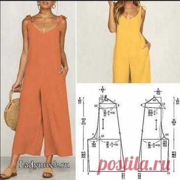 Комбинезон юбка-брюки выкройка | Ladynweb.ru