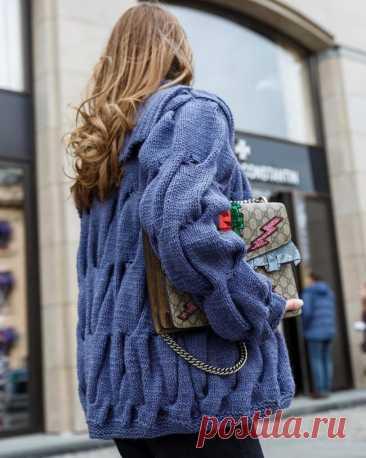 Модные вязаные кардиганы осень 2021-2022 - 100 фото
