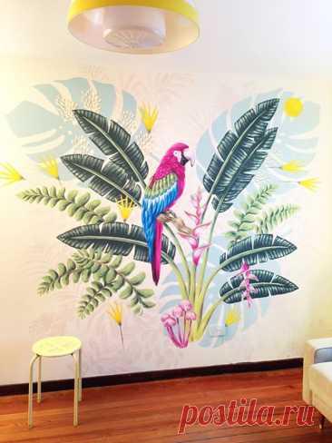 Роспись стен как бюджетный способ украшения | Роскошь и уют