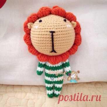 1000 схем амигуруми на русском: Маленький львенок крючком