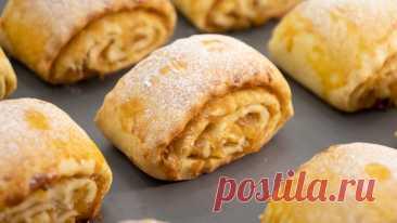 Просто сворачиваю и нарезаю: готовлю печенье с сочной яблочной начинкой (моё любимое) | Евгения Полевская | Это просто | Яндекс Дзен