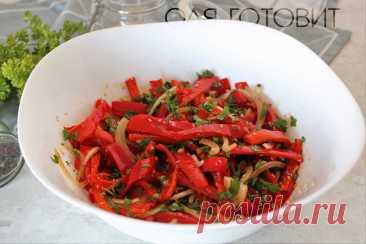 """Обожаю болгарские перцы. Показываю как готовлю из них """"противовирусную"""" закуску"""