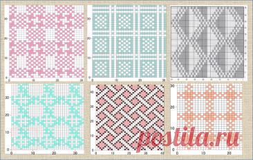 100 простых схем для жаккарда - вязание спицами | ЖАККАРДос | Яндекс Дзен