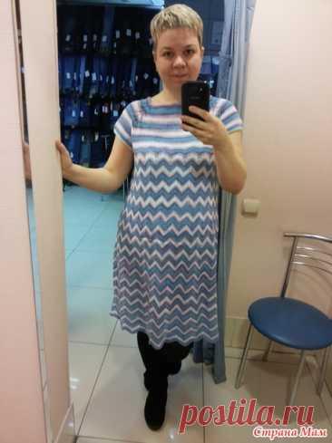 Летние платья от Миссони спицами, узором зигзаги и павлинье перо - Вяжем вместе он-лайн - Страна Мам