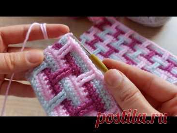 Bu renk uyumunu çok seveceksiniz tığ işi kolay örgü battaniye modeli how to crochet knitting model