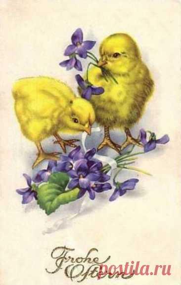 Весна. Пасха. Пасхальные ретро открытки.