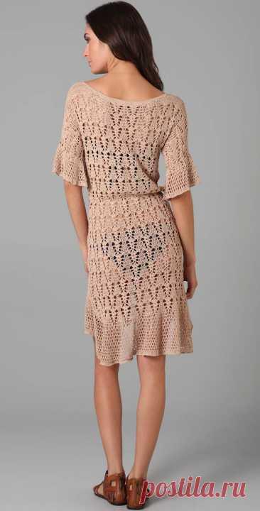 Женское летние платье крючком - Ksena