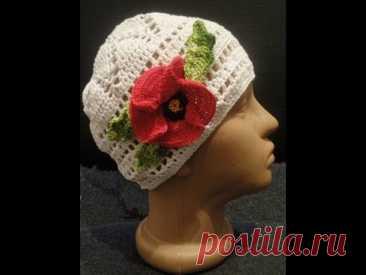 Шапочка Часть1 Донышко Little cap of Part 1 Bottom Knitting by a hook