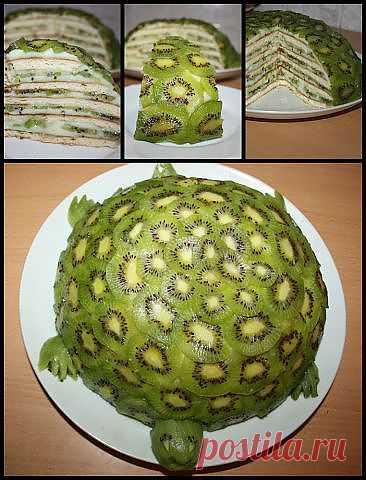 """Торт """"Изумрудная черепаха"""" на сковороде за 15 мин!!!."""