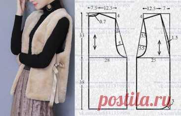 Выкройки тёплых жилеток Модная одежда и дизайн интерьера своими руками