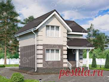 p2346rb – проект дома 7 на 8 с мансардой из газобетона до 100 кв м