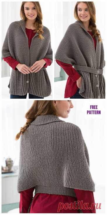 Red Heart Cares Vintage Sweater Free Knitting Pattern