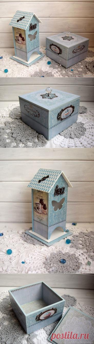 Чайный набор. Чайный домик и конфетница. Мятный аромат – купить на Ярмарке Мастеров – IED75RU | Домики, Москва