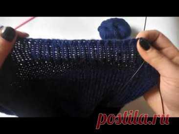 Эластичное закрытие петель спицами / Как закрыть резинку 1*1 спицами. | Вязание для женщин спицами. Схемы вязания спицами