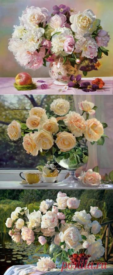 Цветочные натюрморты в творчестве художника Zbigniew Kopania