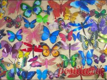 Бабочки из пластиковых бутылок своими руками/ 5 вариантов