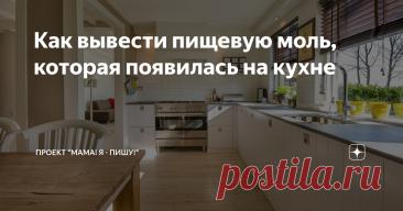 Как вывести пищевую моль, которая появилась на кухне